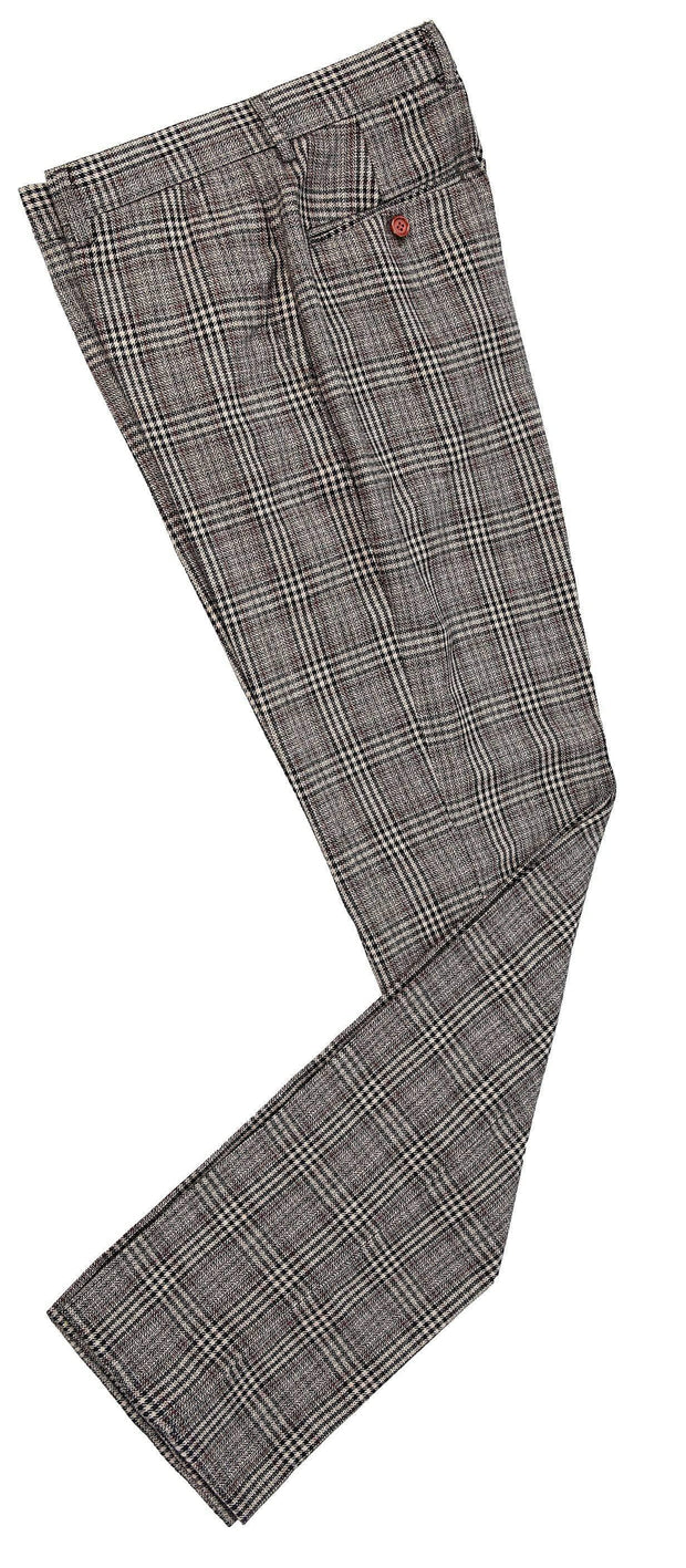 Retro Brown Plaid Tweed