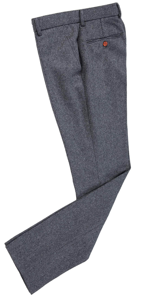 Grey Twill Tweed Trousers