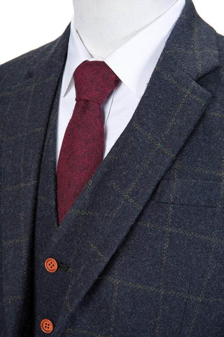 3a8b1a17f0f Navy Windowpane Tweed JacketThe Navy Windowpane Tweed Jacket is exquisitely  hand crafted by our artisan tailors and finished with a modern slim fit.
