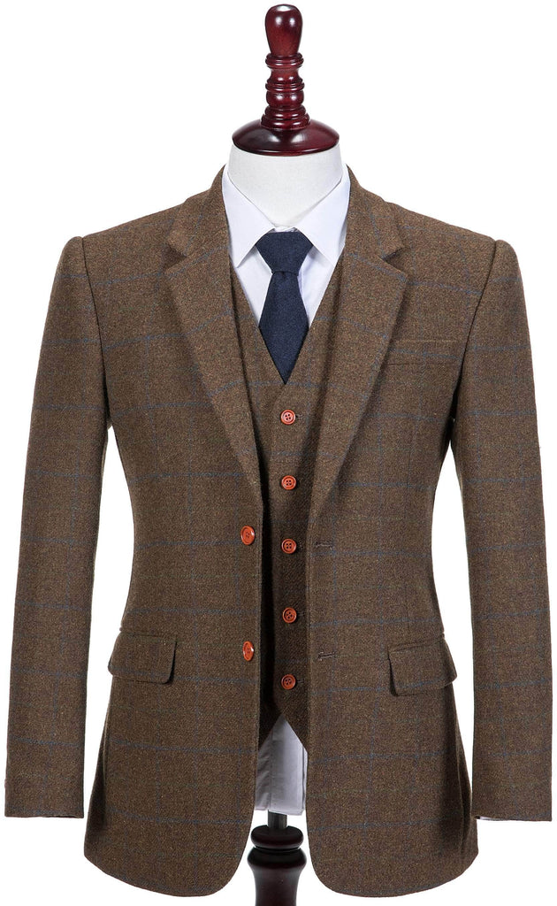 Brown Tattersall Tweed 2 Piece