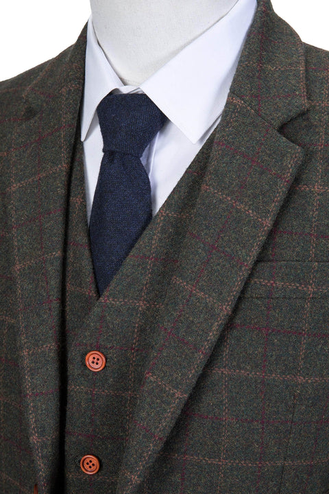 Dark Green Tattersall Tweed Jacket