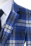 Blue Madras Tweed 2 Piece
