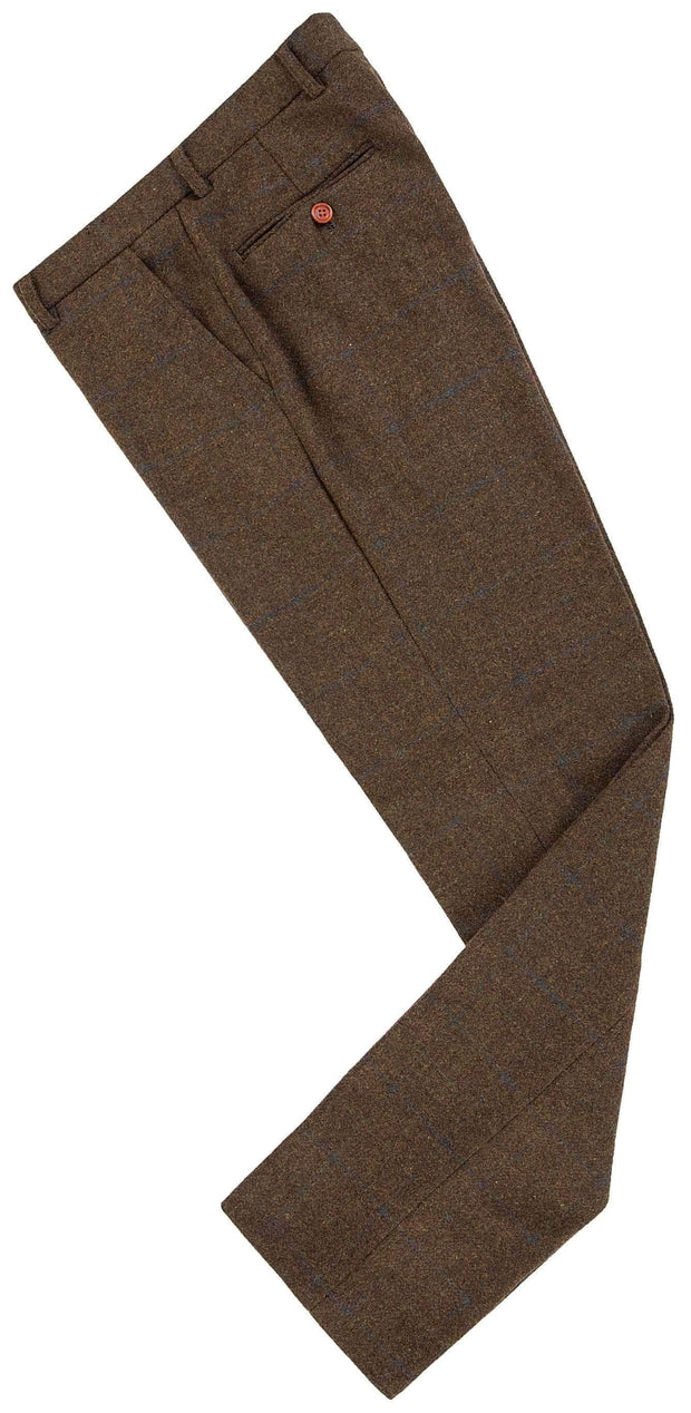 Brown Tattersall Tweed Trousers