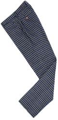 Grey Blue Gingham Tweed Trousers