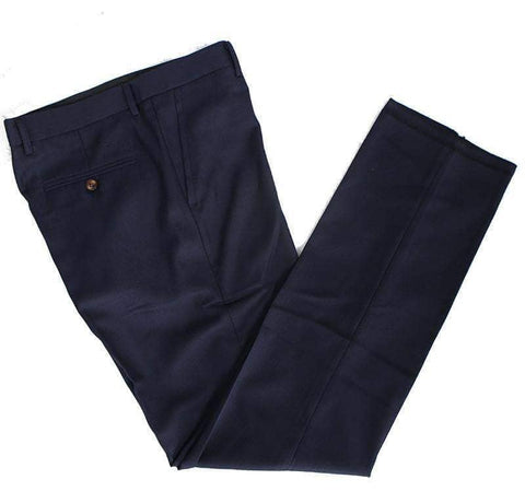 Dark Navy Worsted Wool Trousers