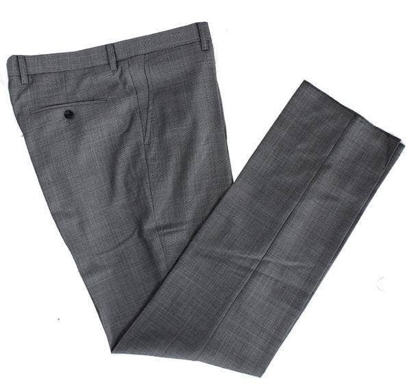 Grey Prince of Wales Check Worsted Wool Trousers