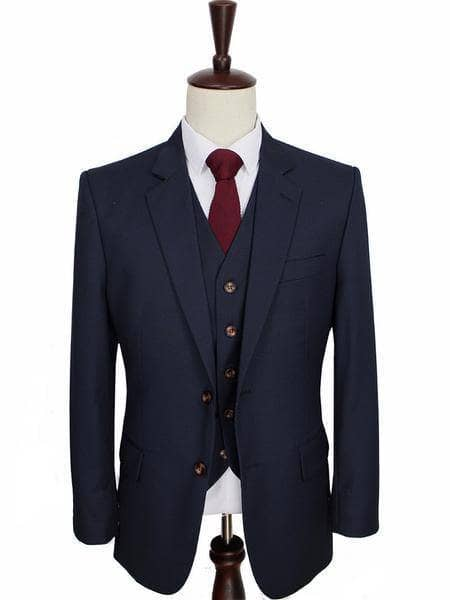 Navy Worsted Wool Jacket