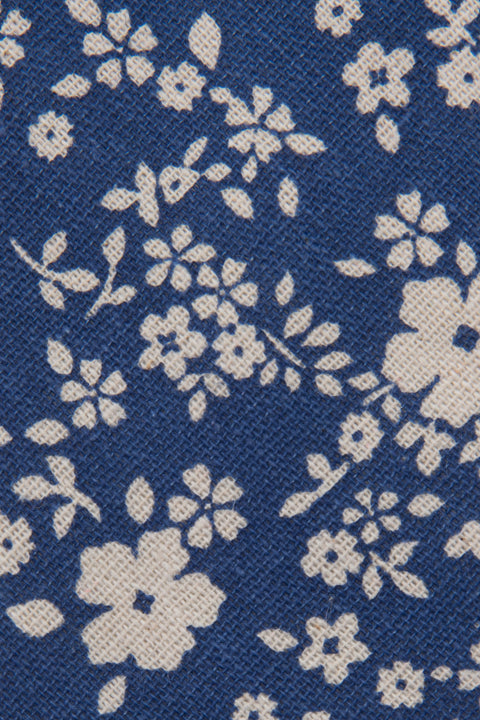 Close up of Blue Floral Tie