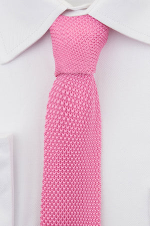 Bright Pink Knitted Tie