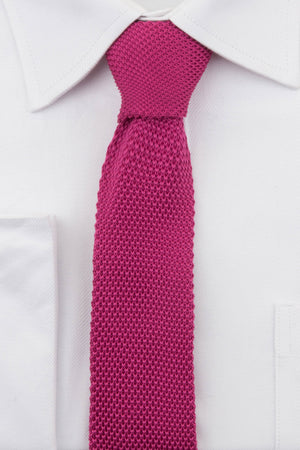 Cerise Pink Knitted Tie