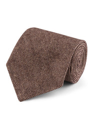 Classic Brown Barleycorn Tweed Tie