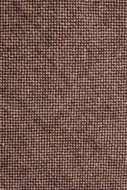 Close up of Classic Brown Barleycorn Tweed Tie by Empire Outlet Luxury Menswear