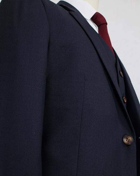 Dark Navy Worsted Wool Jacket