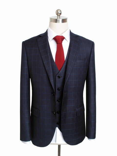 Dark Navy Windowpane Jacket