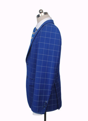 Dark Blue Windowpane 2 Piece