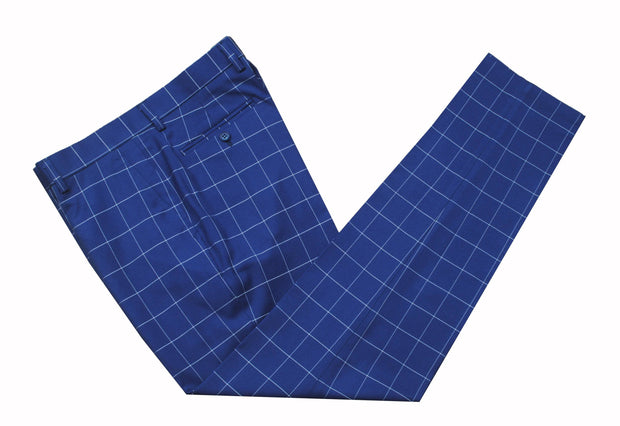 Dark Blue Windowpane Trousers