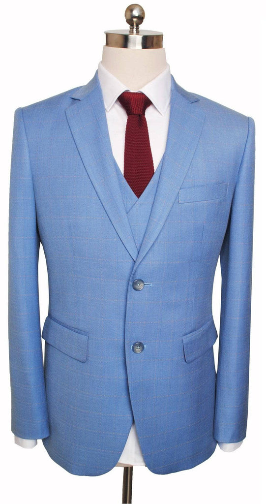 Sky Blue Windowpane Jacket