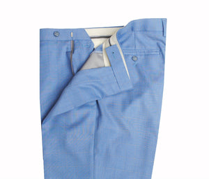 Sky Blue Windowpane Trousers