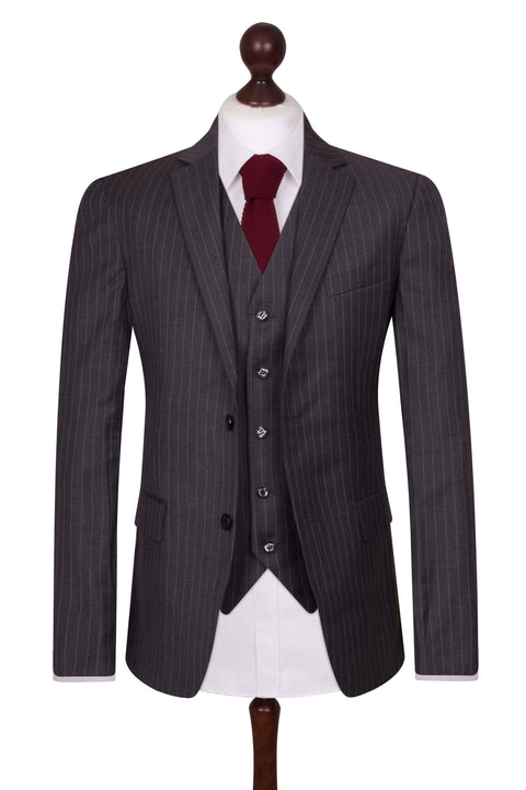 Dark Grey Pinstripe Empire Elite Jacket