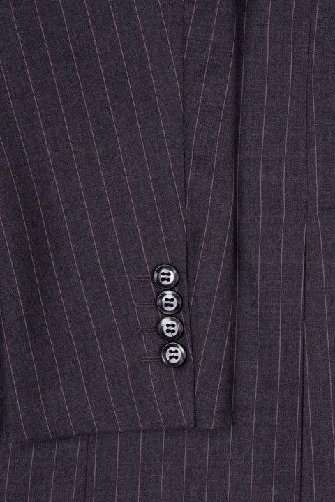 Dark Grey Pinstripe Empire Elite  3 Piece Suit