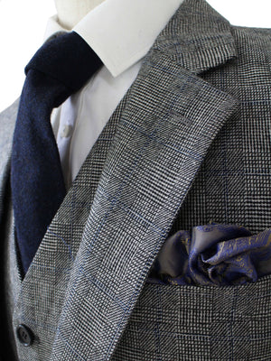 Grey Blue Prince of Wales Tweed Jacket