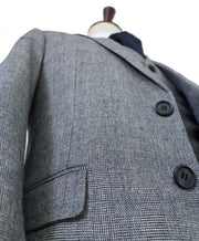 Grey Blue Prince of Wales Tweed  3 Piece Suit