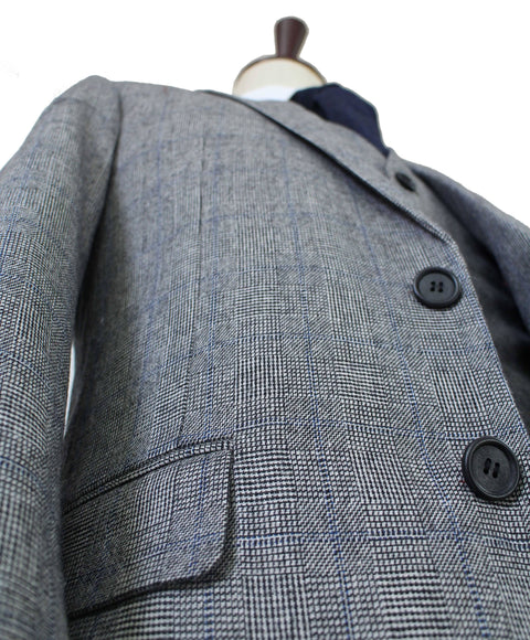 Grey Blue Prince of Wales Tweed