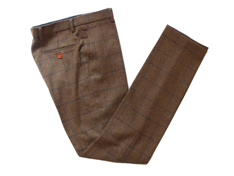 Country Brown Windowpane Tweed