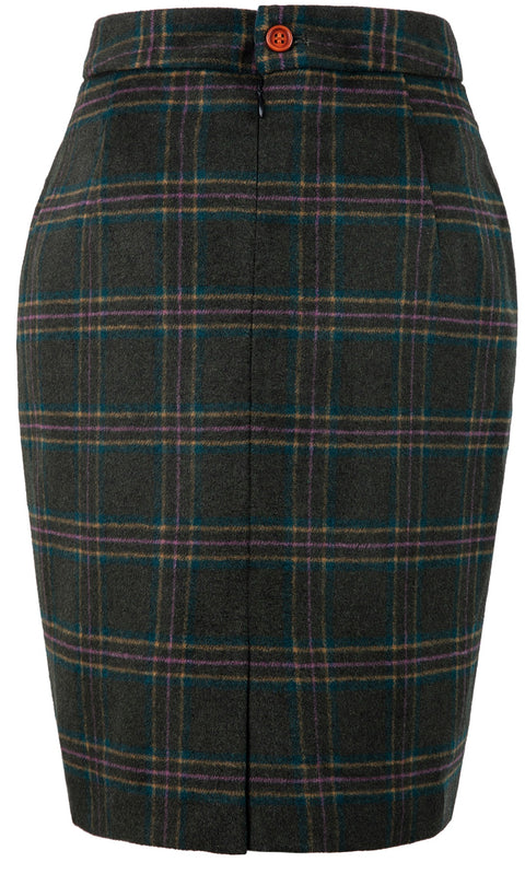 Green Windowpane Plaid Tweed 2 Piece Womens