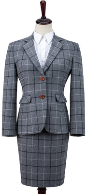 Light Grey Tattersall Tweed 2 Piece Womens