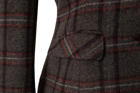 Brown Windowpane Plaid Tweed 2 Piece Womens