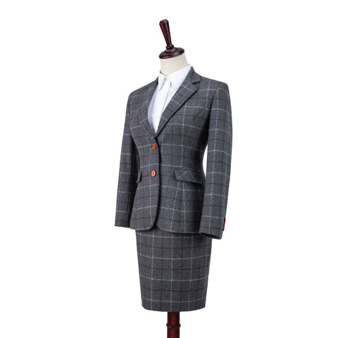 Grey Tattersall Tweed 3 Piece Womens