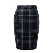 Black Plaid Overcheck Tweed 3 Piece Womens