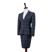 Charcoal Tattersall Tweed 2 Piece Womens