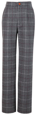 Grey Tattersall Tweed Trousers Womens
