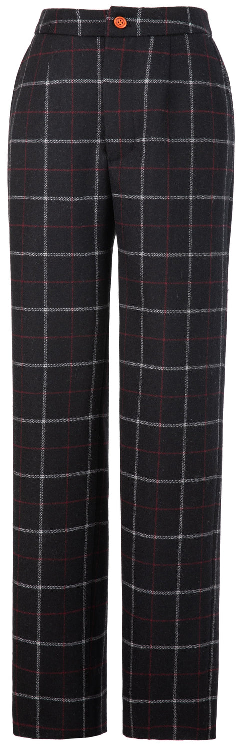 Black Tattersall Tweed 3 Piece Womens