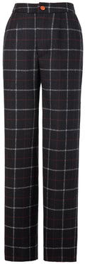 Black Tattersall Tweed Trousers Womens