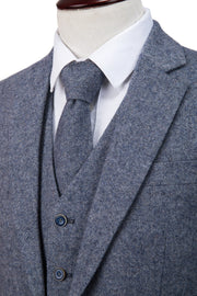 Grey Blue Barleycorn Tweed Jacket