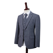 Grey Blue Barleycorn Tweed