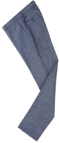 Grey Blue Barleycorn Tweed Trousers
