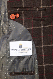 Dark Brown Tattersall Tweed Jacket
