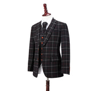 Black Tattersall Tweed
