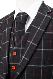 Black Tattersall Tweed Jacket