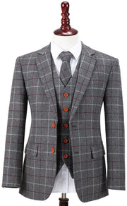 Grey Tattersall Tweed