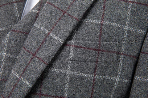 Grey Tattersall Tweed Jacket