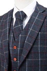 Charcoal Tattersall Tweed