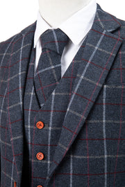 Charcoal Tattersall Tweed Jacket