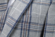 Light Grey Plaid Overcheck Tweed Jacket