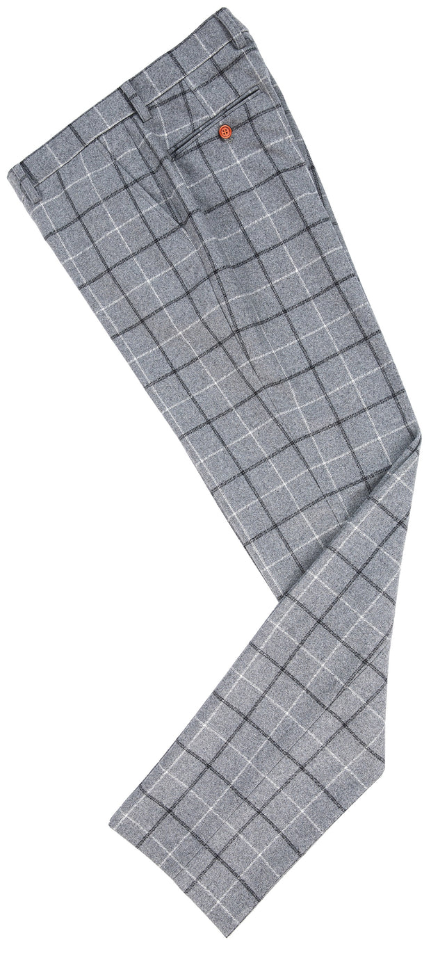 Light Grey Tattersall Tweed Trousers