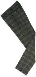 Green Windowpane Plaid Tweed Trousers
